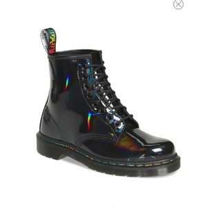Doctor Martens Rainbow Holographic Patent Boots